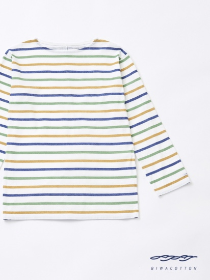 BOAT NECK BORDER LONG SLEEVE T-SHIRT5