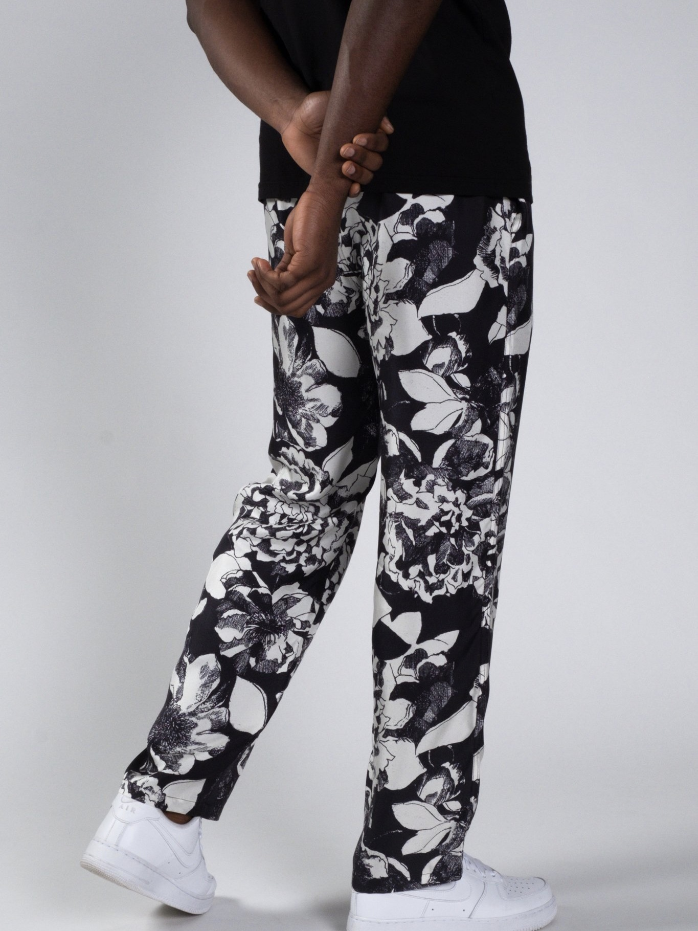EASY PANTS:Youth Bloom Black