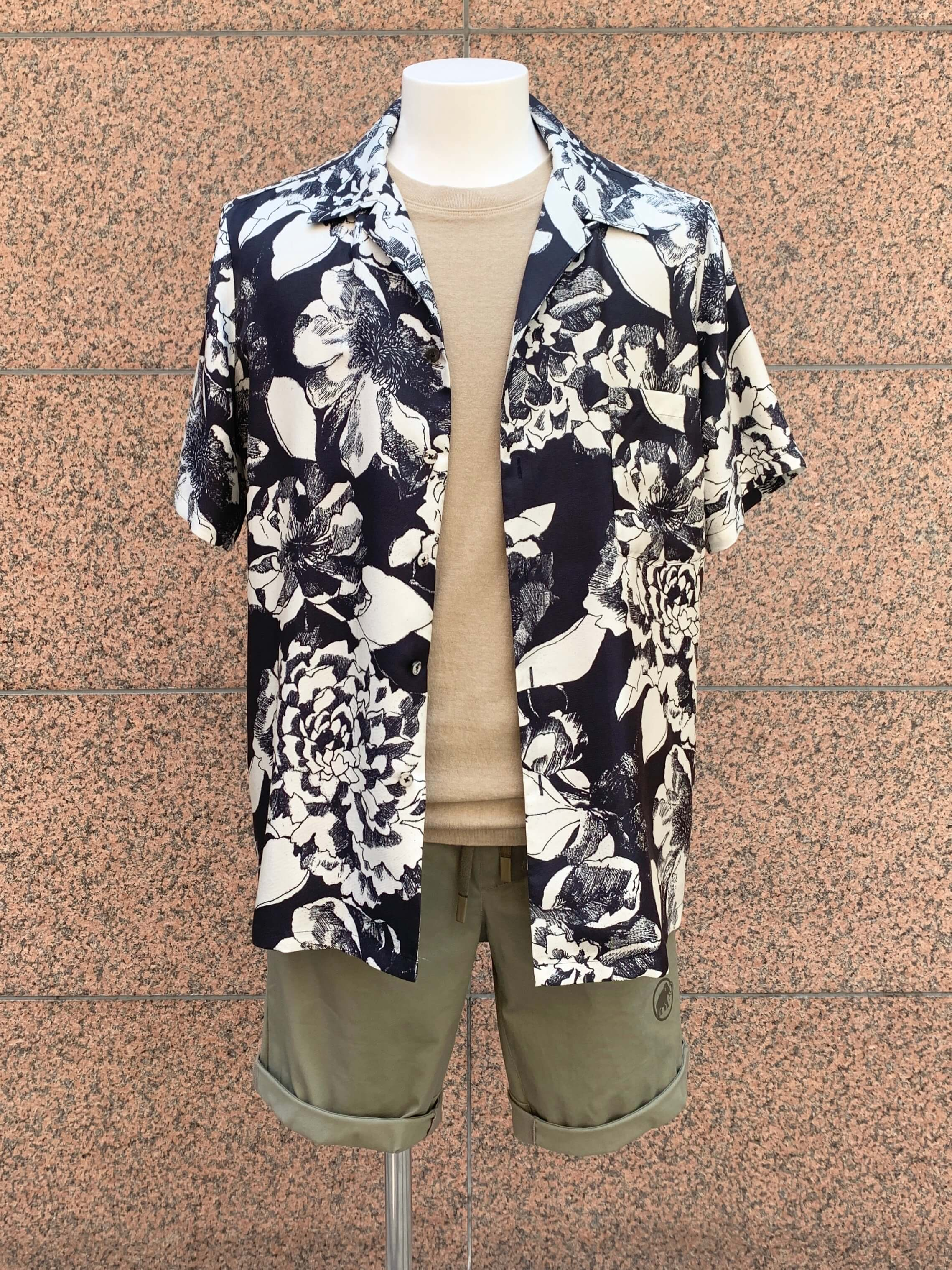 HAWAIIAN SHIRT:Youth Bloom Black3
