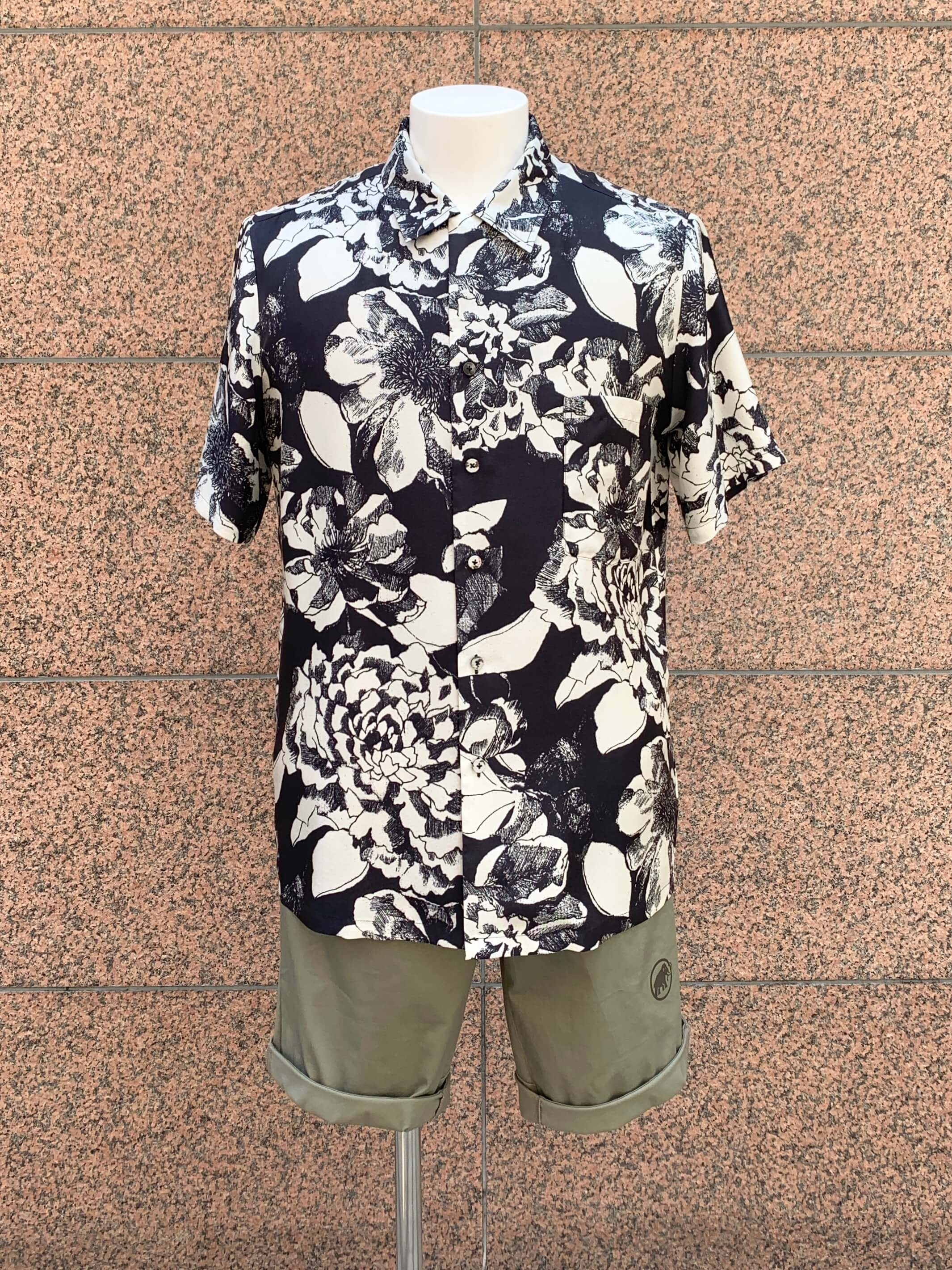 HAWAIIAN SHIRT:Youth Bloom Black4
