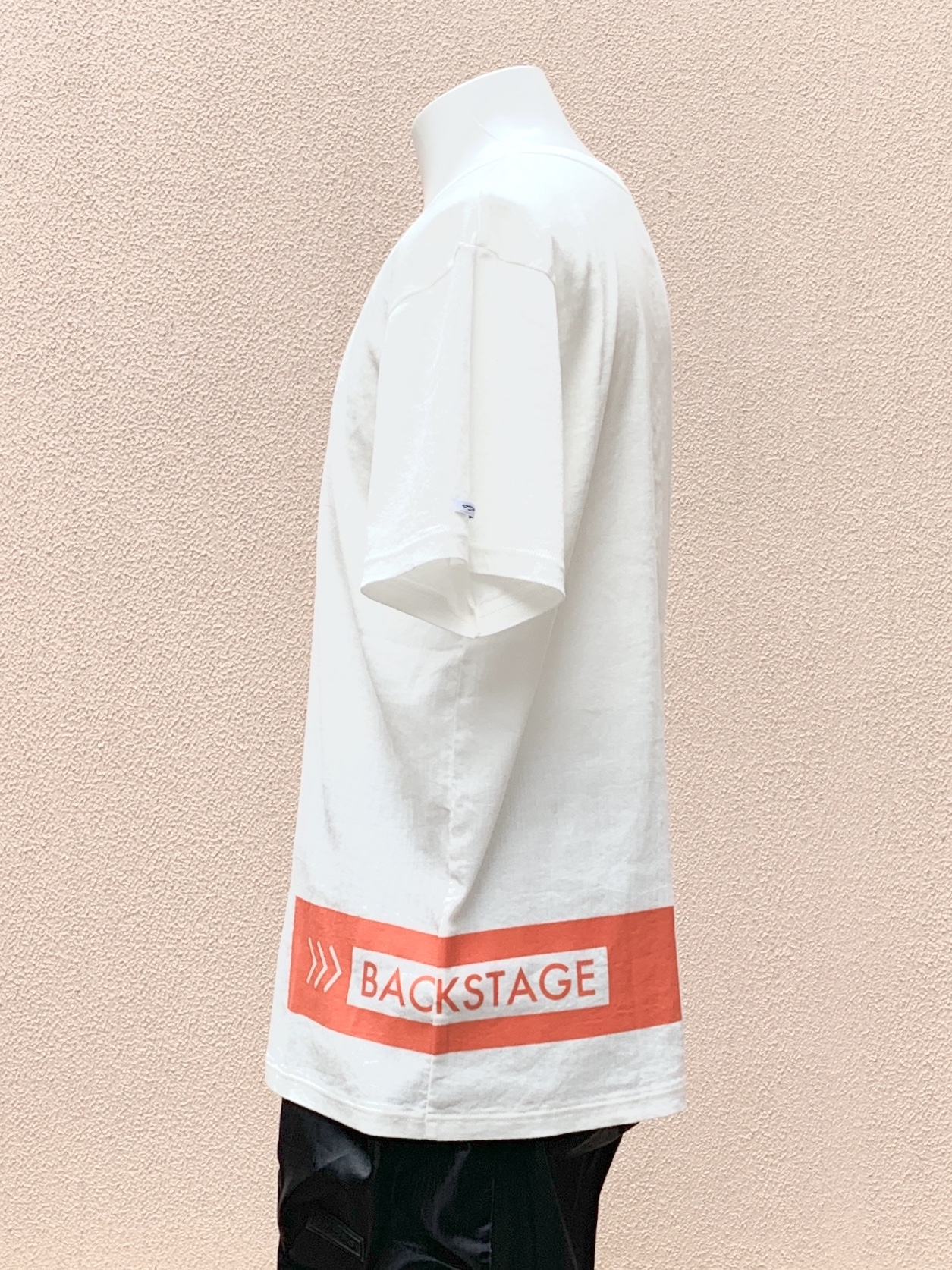 BIWACOTTON × >>>BACKSTAGE CREW NECK SHORT SLEEVE T-SHIRT