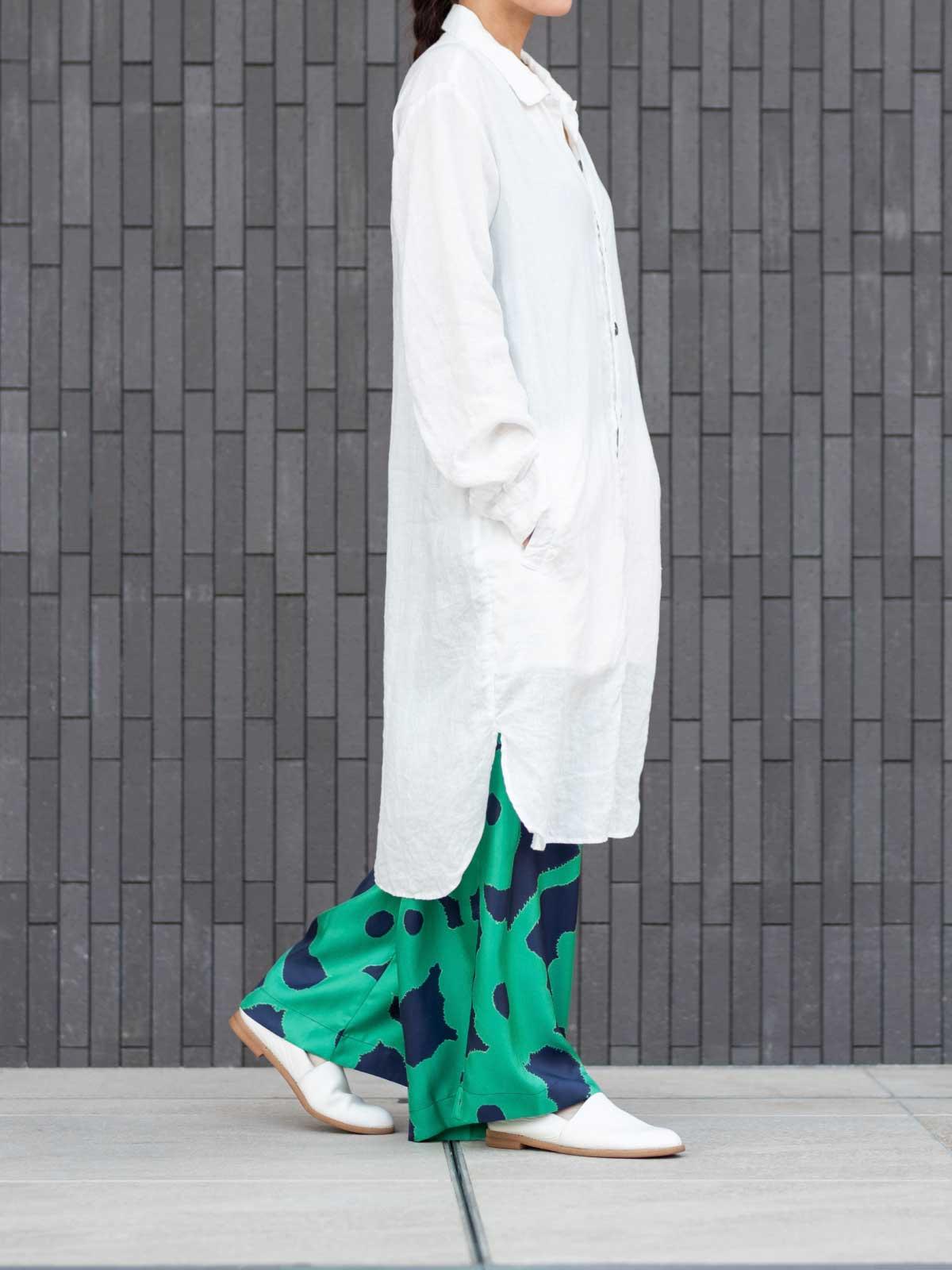 SUPER WIDE LEG:BLEEDING FLOWERS GREEN BLUE4