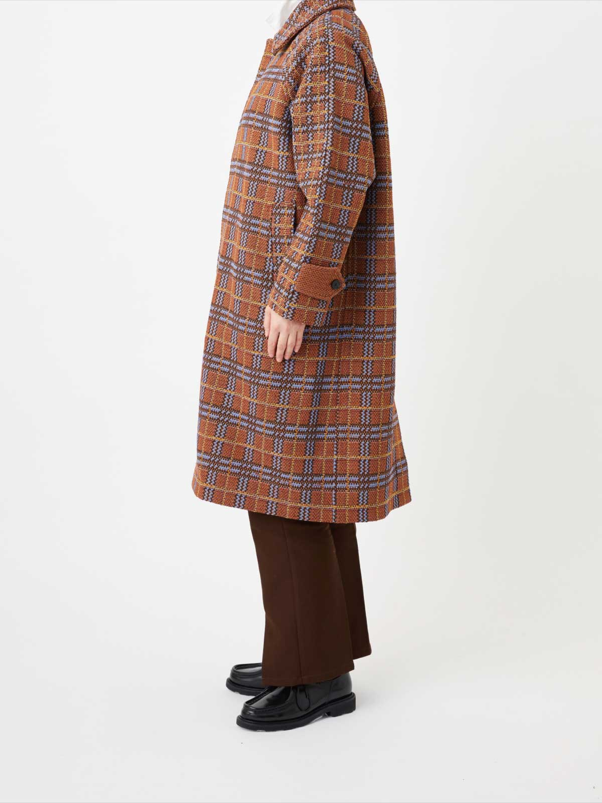 RETRO CHECK TWEED COAT3