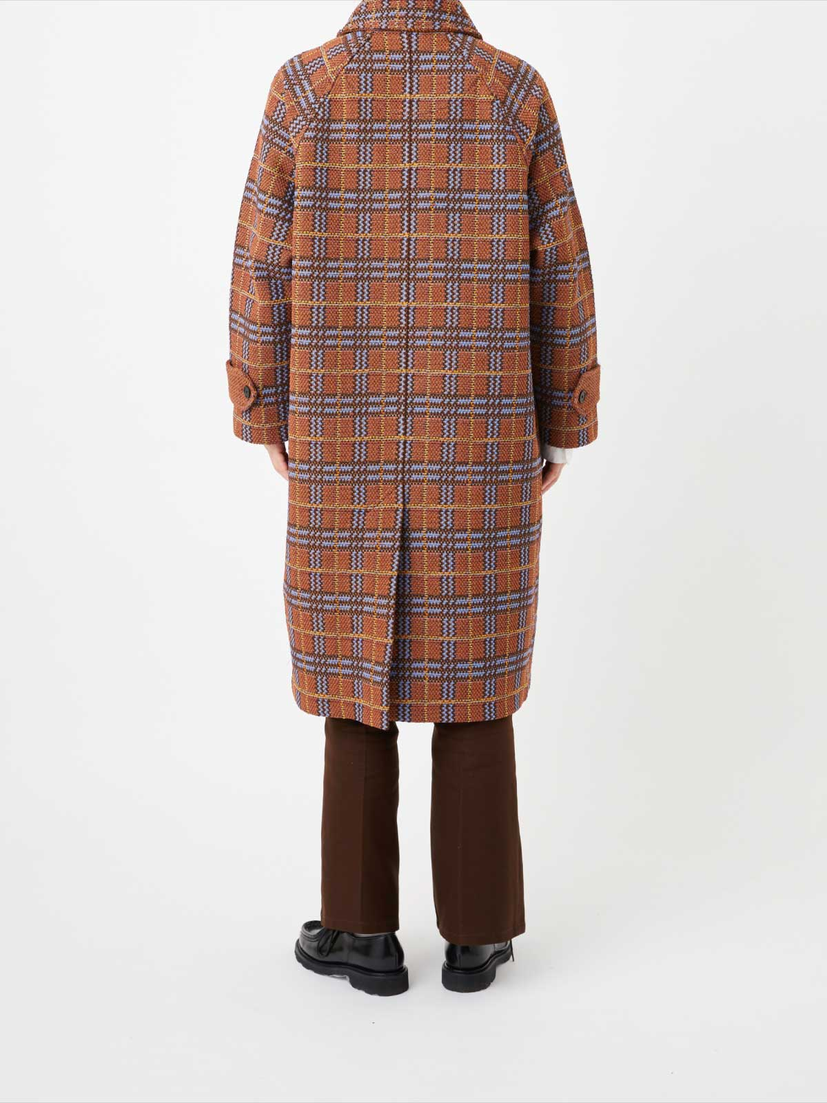 RETRO CHECK TWEED COAT4
