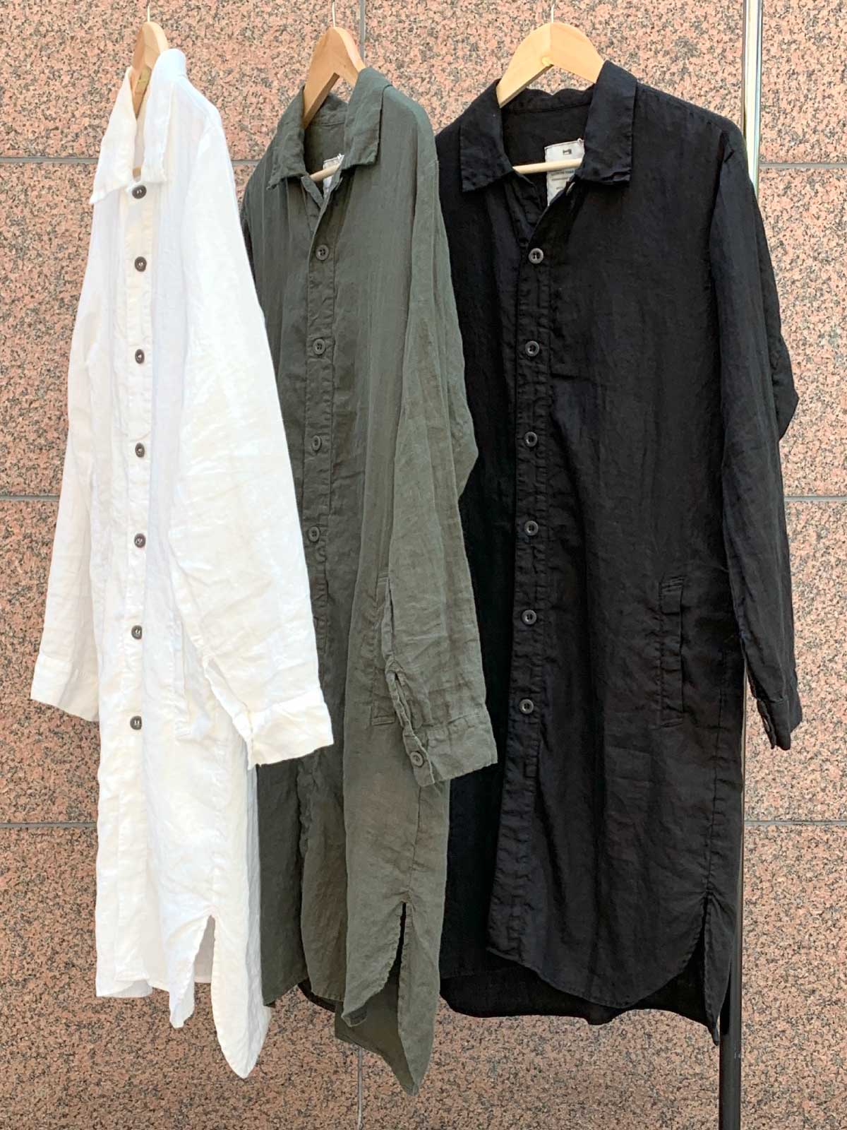 LINEN WORK BUTTON LONG SHIRT