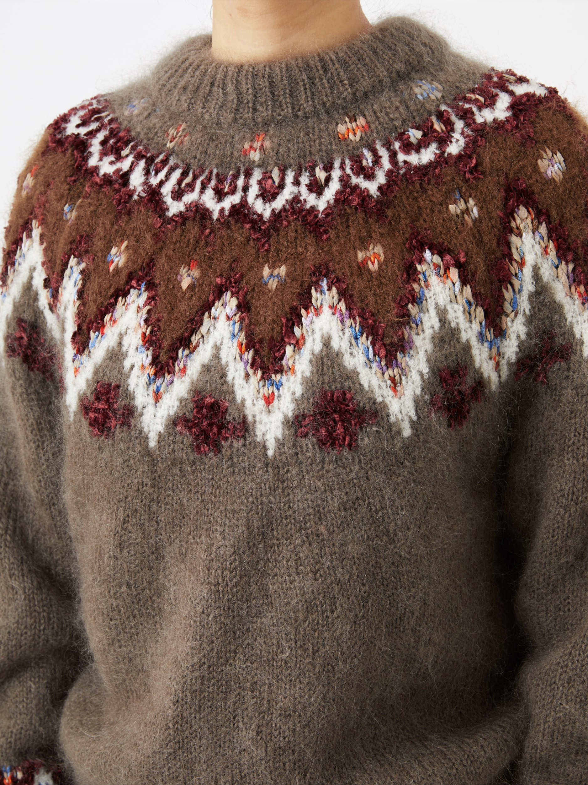 MOHAIR NORDIC SWEATER2