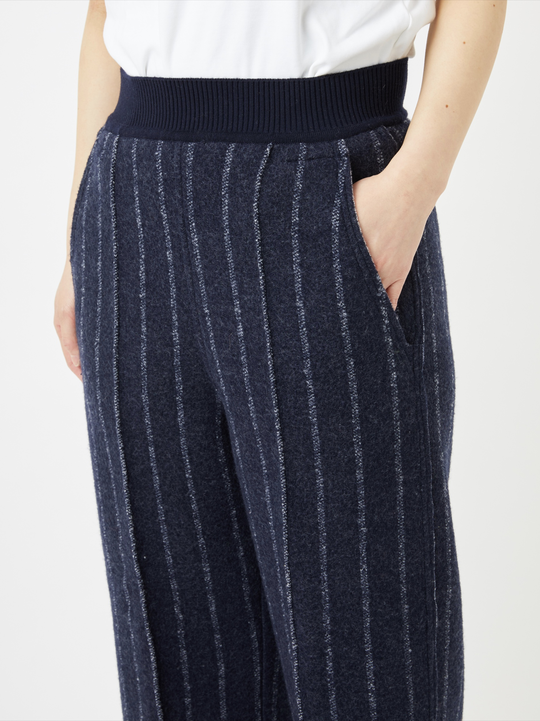 BOILED WOOL KNIT PANT3
