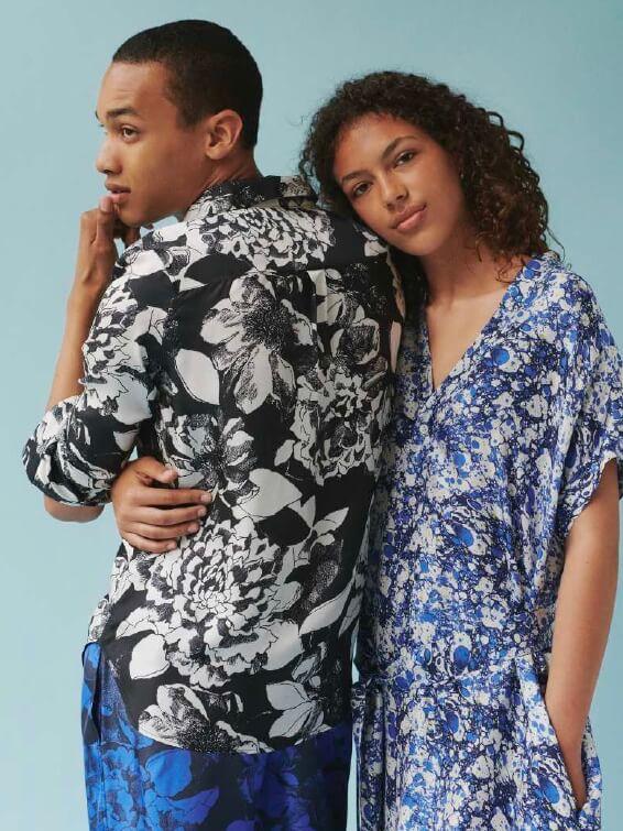 HAWAIIAN SHIRT:Youth Bloom Black2