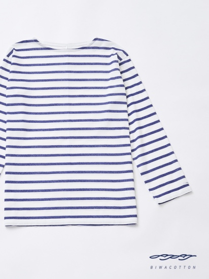 BOAT NECK BORDER LONG SLEEVE T-SHIRT3