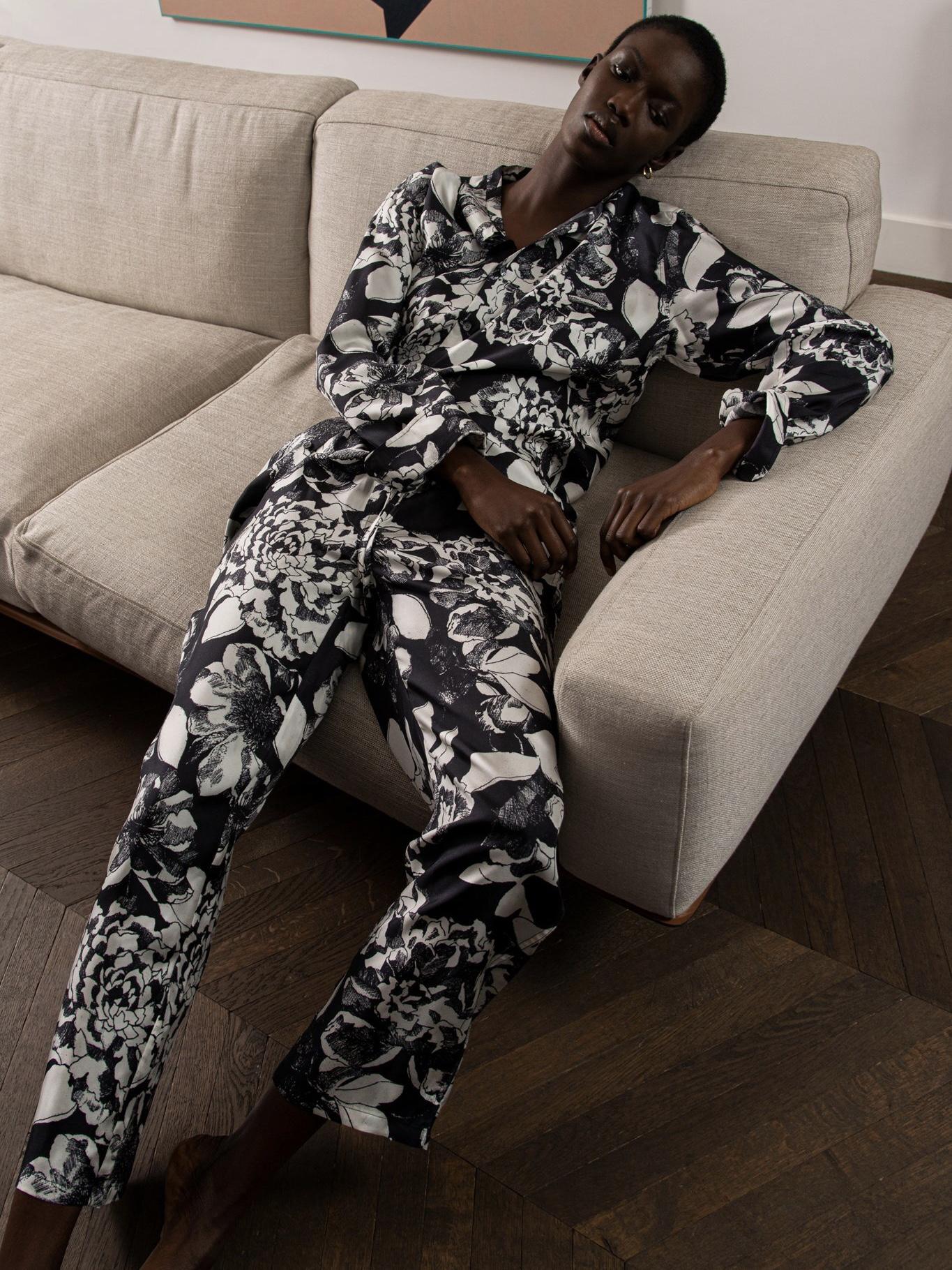 EASY PANTS:Youth Bloom Black3