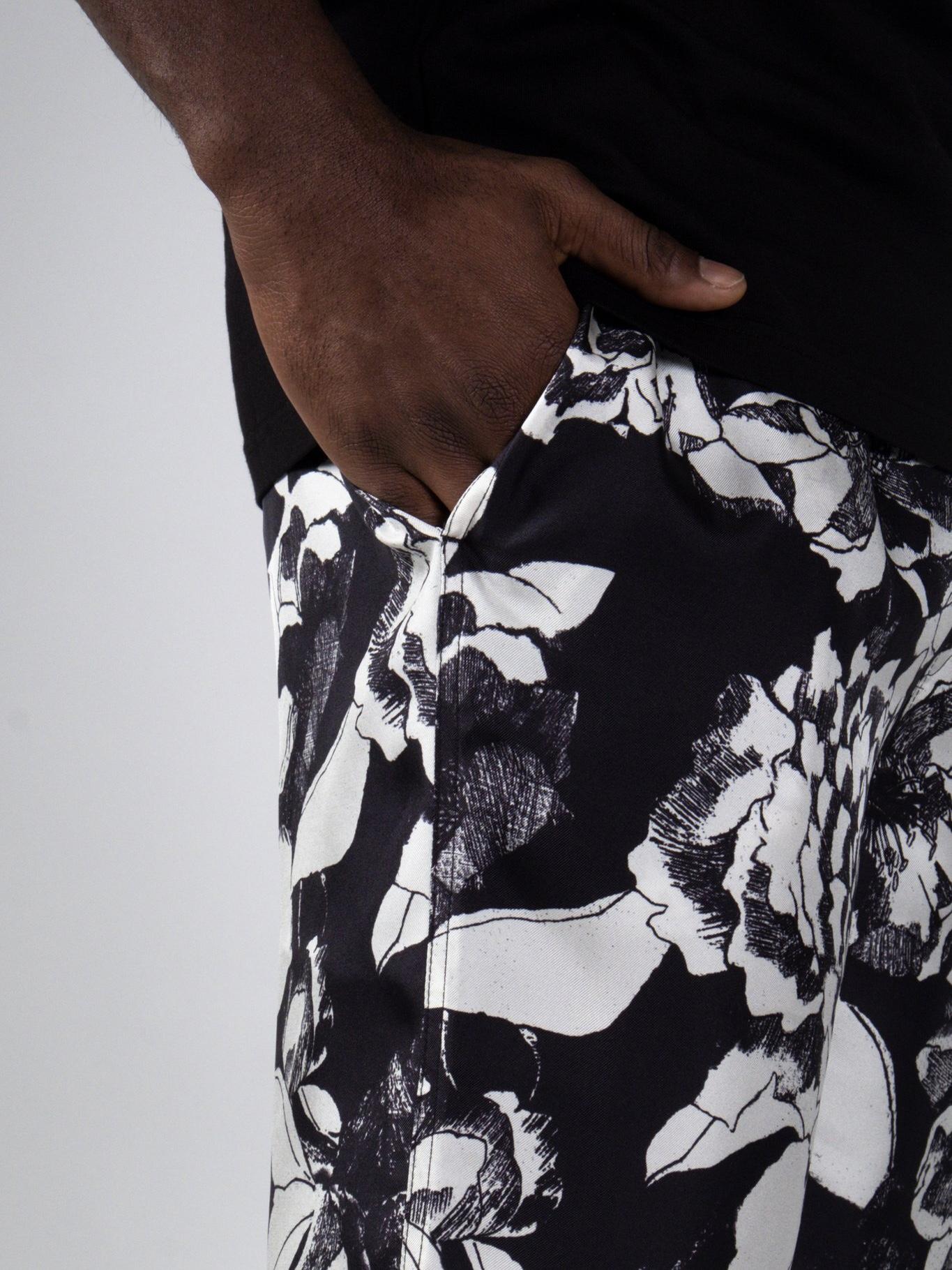 EASY PANTS:Youth Bloom Black2