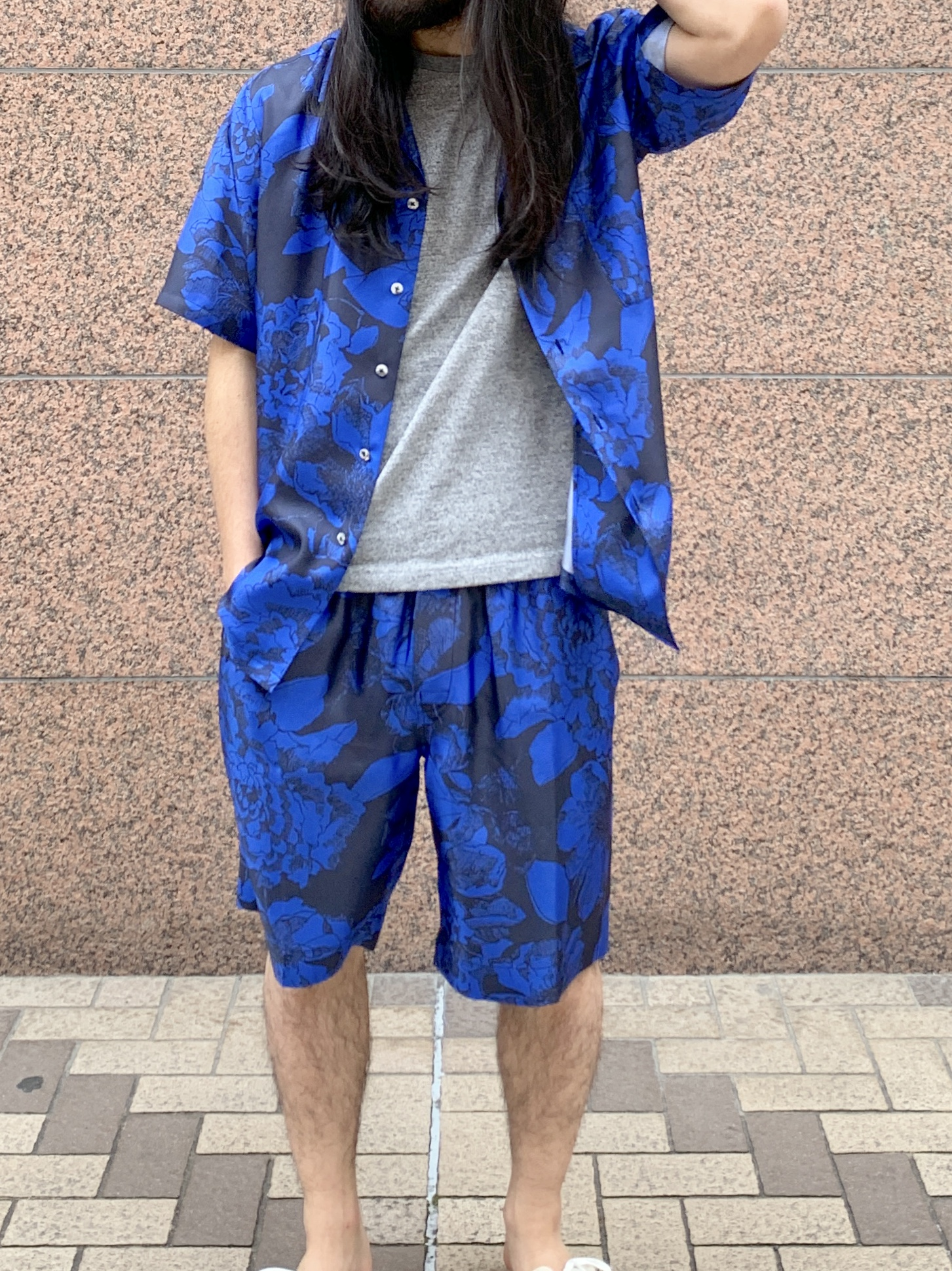HAWAIIAN SHIRT:Youth Bloom Blue5