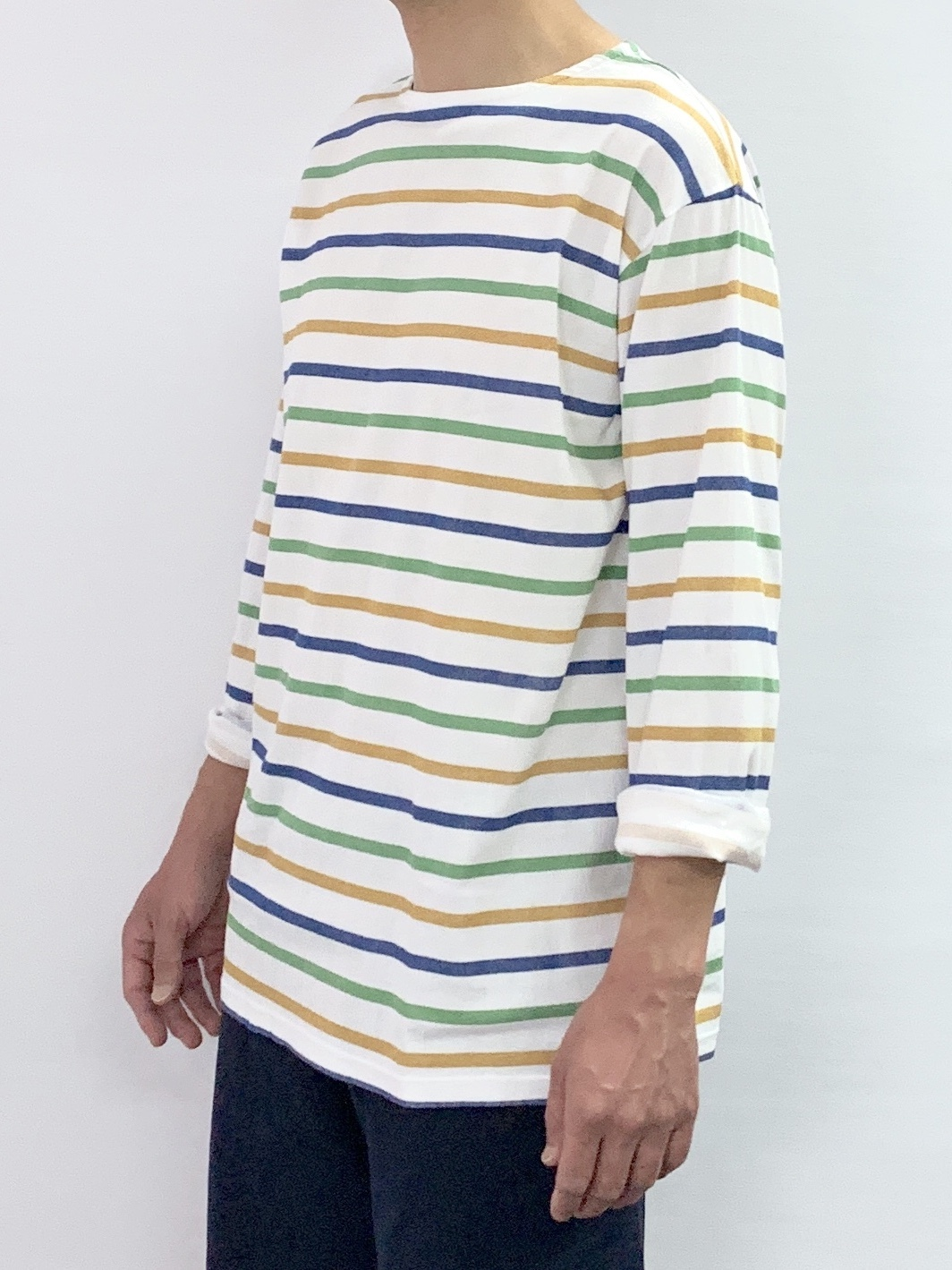 BOAT NECK BORDER LONG SLEEVE T-SHIRT2