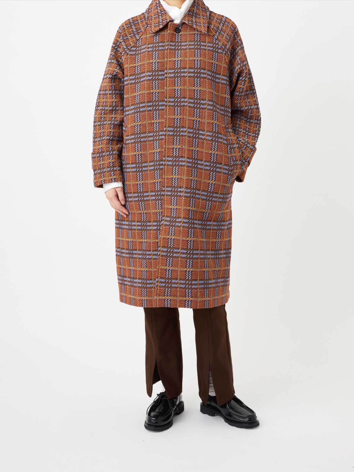 RETRO CHECK TWEED COAT2