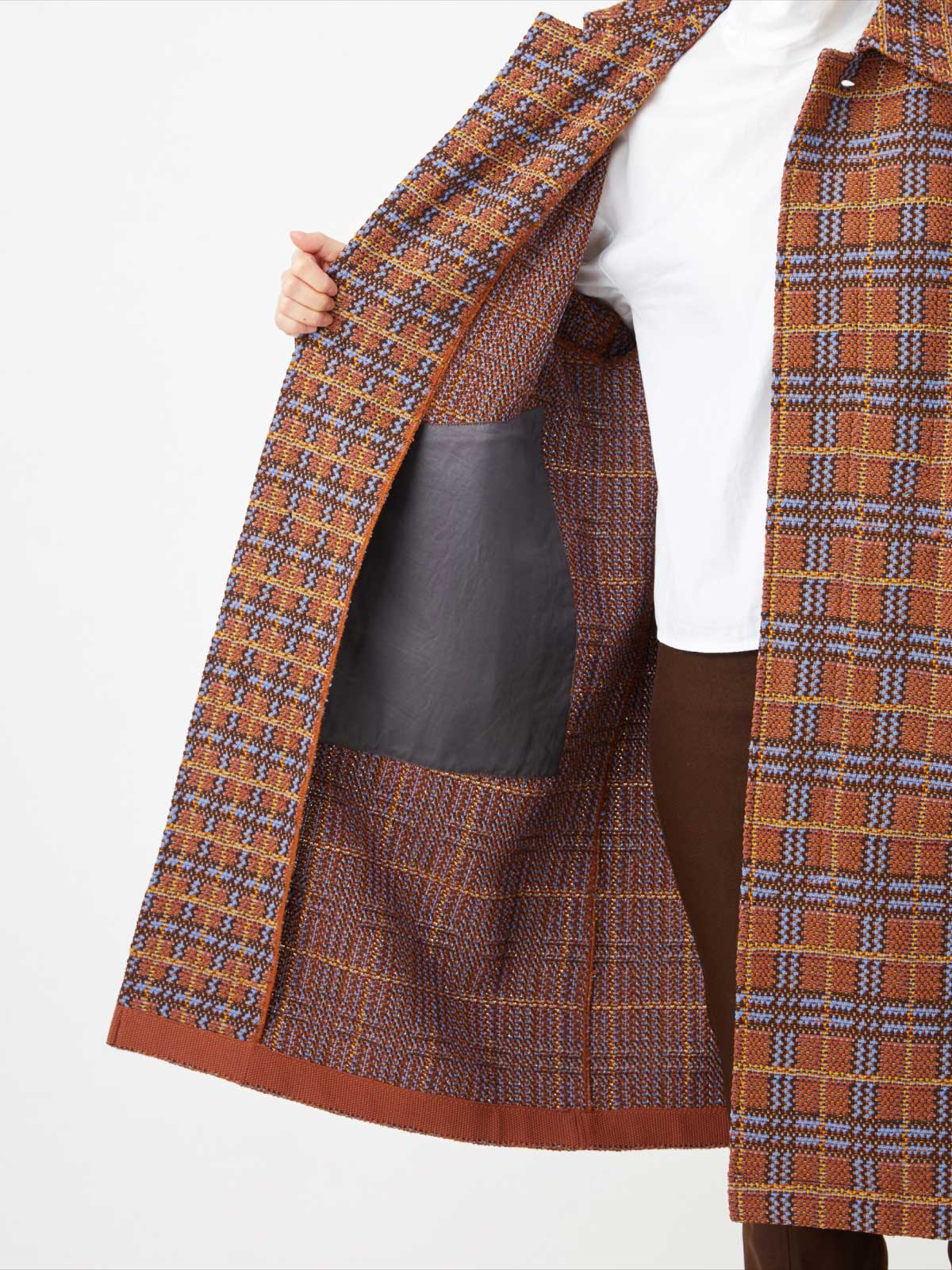 RETRO CHECK TWEED COAT6