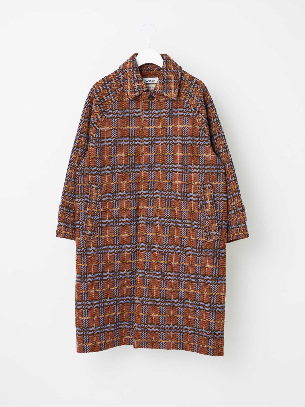 RETRO CHECK TWEED COAT