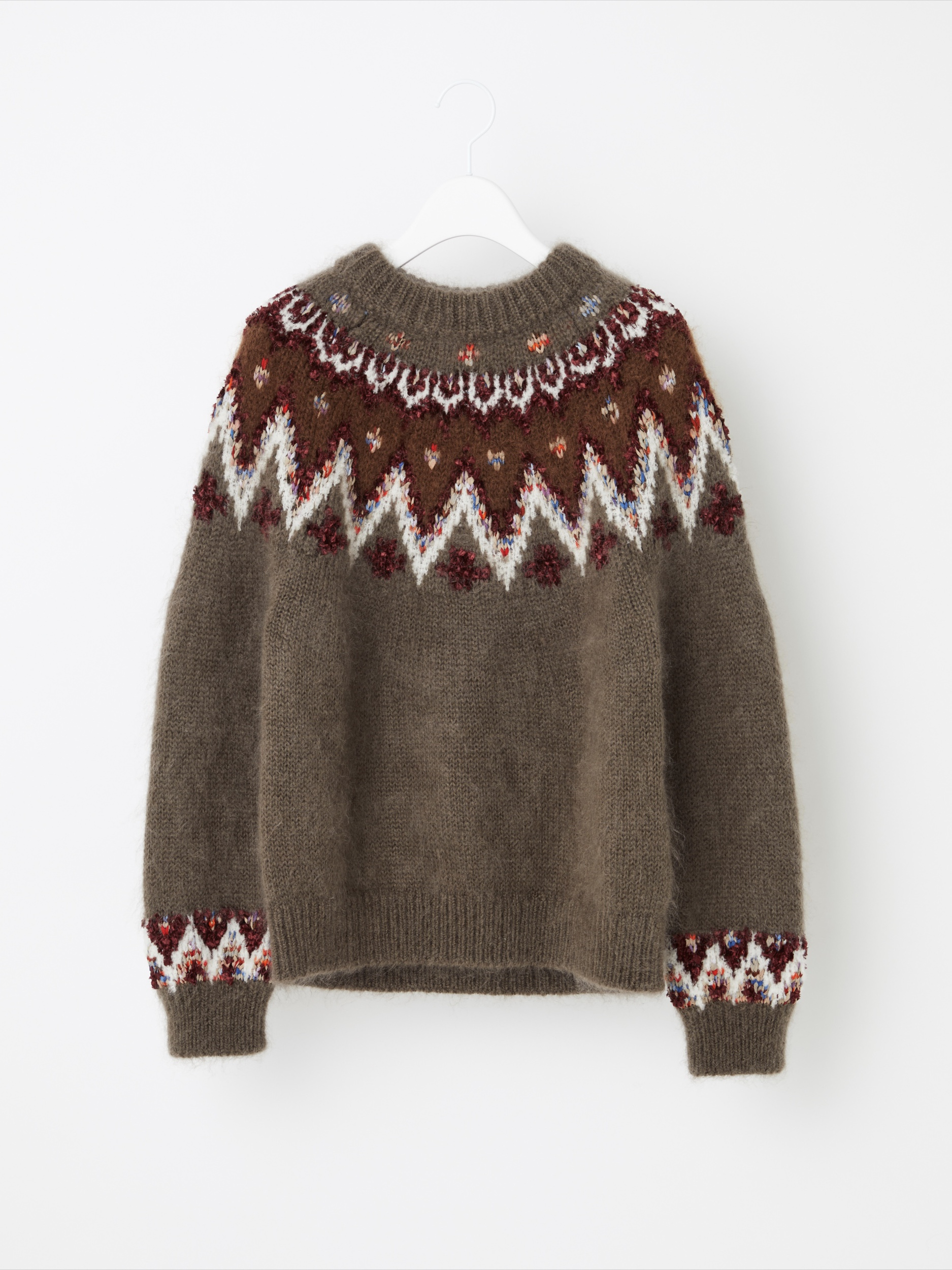 MOHAIR NORDIC SWEATER
