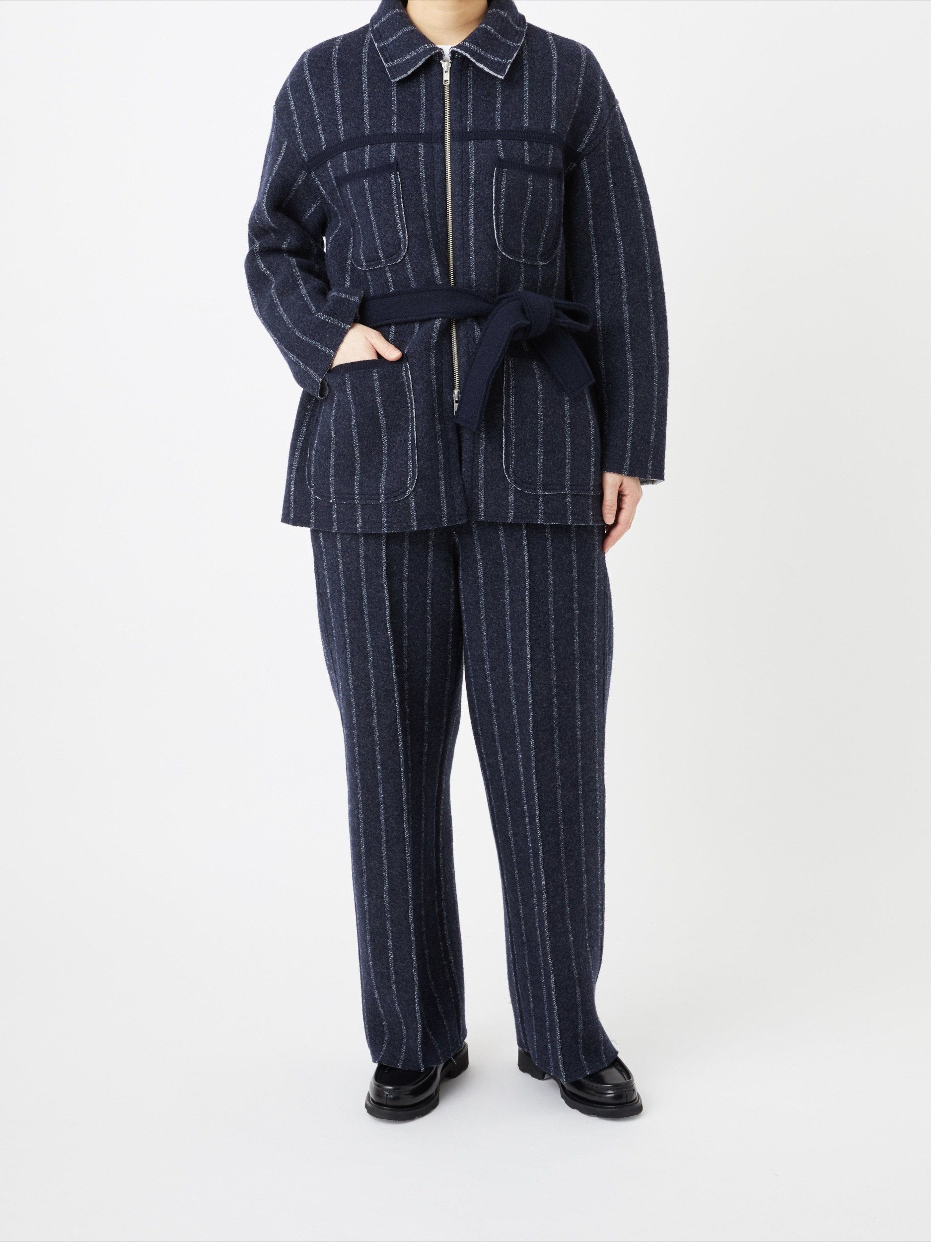 BOILED WOOL KNIT PANT4