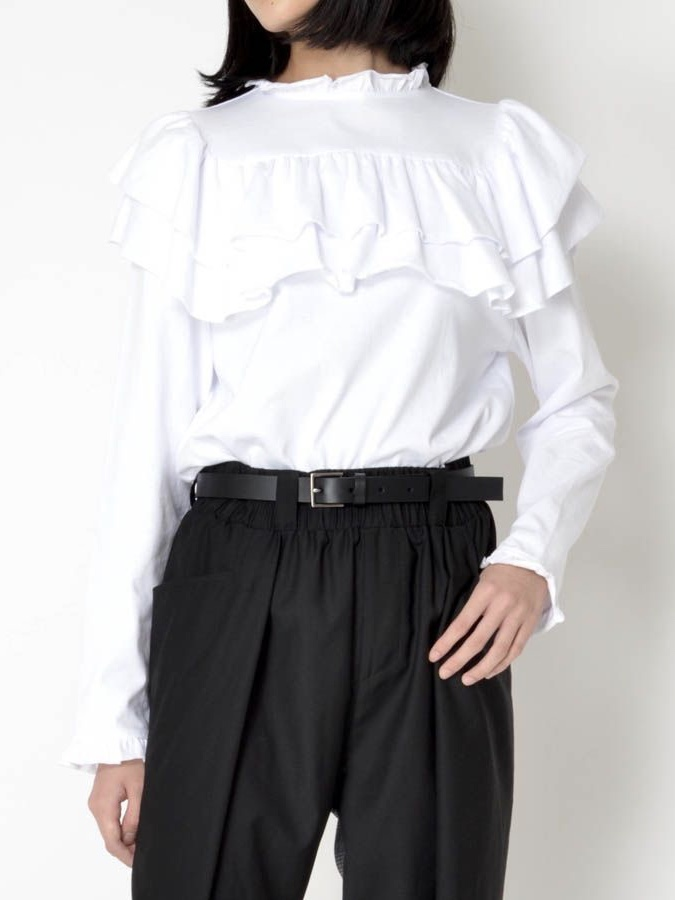 FRILL LONG T-SHIRT